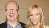 Tony winner Tracy Letts and Emmy winner Toni Collette are all smiles on press day.
