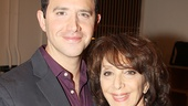 Tony nominee Santino Fontana and Tony winner Andrea Martin take a snapshot on Act One press day.