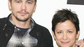 Of Mice and Men star James Franco and director Anna D. Shapiro strike a pose at the Pershing Square Signature Center.
