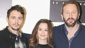 Oscar nominee James Franco and Bridesmaids favorite Chris O'Dowd flank Gossip Girl alum Leighton Meester.