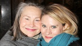 The Glass Menagerie alums Cherry Jones and Celia Keenan-Bolger pose for an adorable snapshot.