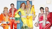 Super Troupers Felicia Finley, Paul DeBoy, Corinne Melancon, Alan Campbell, Lauren Cohn and John Hemphill show off their disco duds.