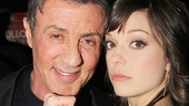 Margo Seibert gets punchy with Sylvester Stallone.