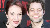 Broadway favorites (and 2013 Broadway.com Audience Choice Award presenters) Sierra Boggess and Jeremy Jordan enjoy an evening out at Rocky.