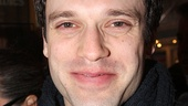 Beautiful star Jake Epstein enjoys a night off at Les Miz.
