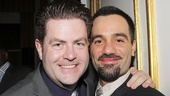 Broadway.com editor Paul Wontorek and Les Miz favorite Ramin Karimloo strike a pose.