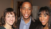 Les Miz star Nikki M. James (r.) hangs out with her brother Douglas (c.) and Celine Mizrahi.