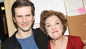 Mothers and Sons stars Frederick Weller and Tyne Daly take a snapshot.