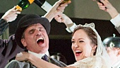 Michael Park as Macheath & Laura Osnes as Polly Peachum with the cast of The Threepenny Opera