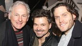 Victor Garber snaps a photo with Bridges gents Hunter Foster and Steven Pasquale.