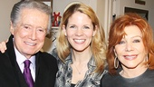 Bridges leading lady Kelli O'Hara greets Regis Philbin and his wife Joy.