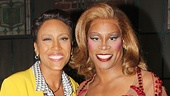 Good Morning America anchor Robin Roberts & Kinky Boots star Billy Porter (Lola).