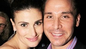 Idina Menzel takes a snapshot with fellow Rent alum Kristoffer Cusick.