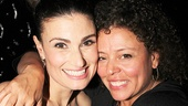 Idina Menzel reunites with Wicked assistant director Lisa Leguillou.