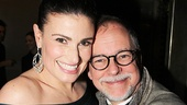 Idina Menzel takes a sweet snapshot with Wicked author Gregory Maguire.