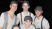 At the Miscast gala, Girls star Zosia Mamet carries the banner with the Newsies crew!