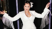 Vanessa Williams shows off her fashionable fringe backstage.