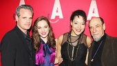 The Threepenny Opera stars Michael Park, Laura Osnes, Lilli Cooper and F. Murray Abraham take a classy post-show snapshot.