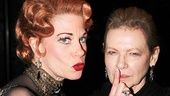 Don't speak! Marin Mazzie strikes a pose with original Bullets film star Dianne Wiest.