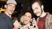 Ben Thompson (Miss Trunchbull), Lesli Margherita (Mrs. Wormwood) and Matt Harrington (Mr. Wormwood).