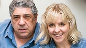 Bullets stars Vincent Pastore (Nick Valenti) and Helene Yorke.