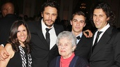 James Franco's mother Betsy Lou, his grandmother Mitzie Verne and his brothers Dave and Tom came to see his Broadway debut!