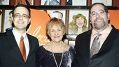 Producers Van Dean and Larry Kaye flank Velocity star Estelle Parsons.