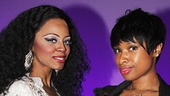 Stop! Motown's Krystal Joy Brown (Diana Ross) and Jennifer Hudson strike a pose.