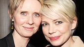 Cynthia Nixon cheers on Cabaret star Michelle Williams.