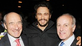 The Actors Fund trustee Jeffrey Bolton and president Joseph P. Benincasa rally around Of Mice and Men star James Franco.