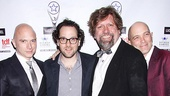 Fun Home star Michael Cerveris, director Sam Gold, Public Theater artistic director Oskar Eustis and Taylor Mac.