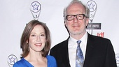 The Realistic Joneses star Tracy Letts and his wife, actress Carrie Coon, strike a pose.