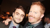 The Cripple of Inishmaan star Daniel Radcliffe and the luncheon's host, Jesse Tyler Ferguson.