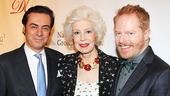 Key Brand Entertainment CEO John Gore, Drama League president Jano Herbosch and luncheon host Jesse Tyler Ferguson.