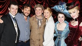 A Gentleman's Guide to Love & Murder players Bryce Pinkham, Jefferson Mays, Lauren Worsham and Lisa O'Hare with Hugh Dancy and Claire Danes.