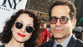 Tony winner Bebe Neuwirth and Act One star Tony Shalhoub rock stylish sunglasses on the red carpet.
