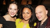 Laura Osnes and Michael Cerveris strike a pose with tick...tick...BOOM! and Broadway alum Karen Olivo.