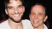 Actor Evan Jonigkeit and legendary Cabaret star Joel Grey catch Wayra.