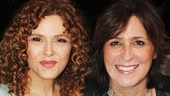 Broadway Barks host Bernadette Peters with illustrator Liz Murphy.
