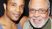Beautiful's James Harkness with James Earl Jones.