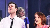 Stars Zak Resnick, who plays Bert Berns, and Leslie Kritzer take their opening night bows.