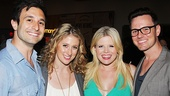 Double date! Les Miz star Caissie Levy and husband David Reiser (l.)  get close to Megan Hilty and Brian Gallagher.