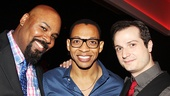 Memphis will always live in them! Aladdin Tony winner James Monroe Iglehart with Piece Of My Heart stars Derrick Baskin and Bryan Fenkart.