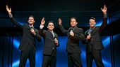 Drew Gehling as Bob Gaudio, Ryan Molloy as Frankie Valli, Richard H. Blake as Tommy DeVito & Matt Bogart as Nick Massi in Jersey Boys