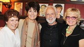 John Rubinstein hangs out with Broadway favorites Judy Kaye, Lucie Arnaz (who will play Berthe in the national tour) and Christine Ebersole.