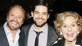 Jeremy Jordan poses with two of Broadway's top producers Barry and Fran Weissler, who will bring the show to Broadway in spring 2015.