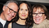 The Money Shot's Elizabeth Reaser takes a snapshot with her proud parents.
