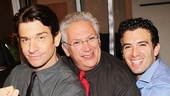 Tony winner Harvey Fierstein and Beautiful's Jarrod Spector take a much-needed break to feel Rocky alum Andy Karl's (l.) muscles.