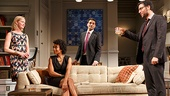 Gretchen Mol as Emily, Karen Pittman as Jory, Hari Dhillon as Amir Kapoor & Josh Radnor as Isaac in Disgraced