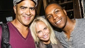 Hamilton - backstage - 8/15 - Christopher Jackson, Kristin Chenoweth and Leslie Odom Jr.
